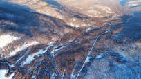 林海雪原北国风光 航拍