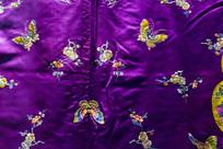清朝旗袍古典紫色花纹