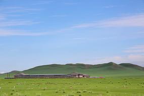 乌兰布统草原风景草原小山