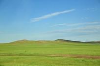 草原蓝天美景