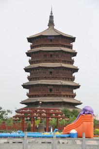 大同应县木塔全景