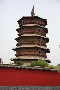 应县木塔的外景