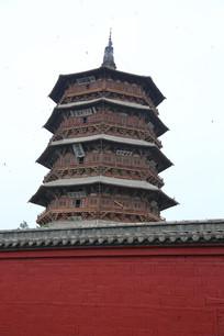 应县木塔和围墙