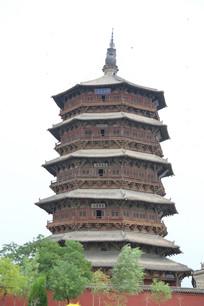 应县木塔全景