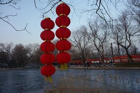 两串红灯笼