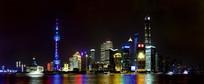 上海外滩陆家嘴高楼大厦夜景