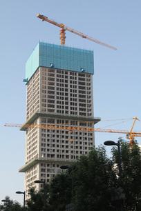 在在建的现代大楼