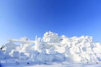 吹笛少女雪雕大型群雕