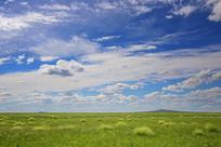 达里诺尔湖草原蓝天风光