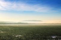 长白山冬季清晨雾气