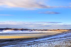 额尔古纳湿地第一场雪