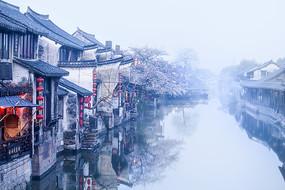 西塘清晨古民居