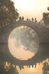 西塘玉带桥的清晨