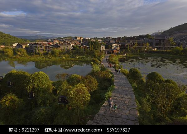 中国贵州青岩古镇风光图片