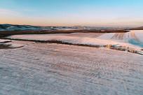 冬日田野雪景 (航拍)