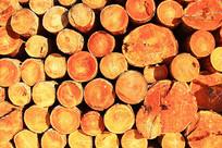 木材垛-原木断面