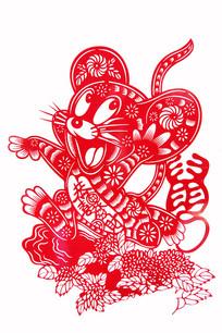 鼠生肖剪纸