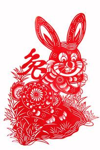 兔生肖剪纸