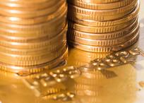 五角硬币与信用卡