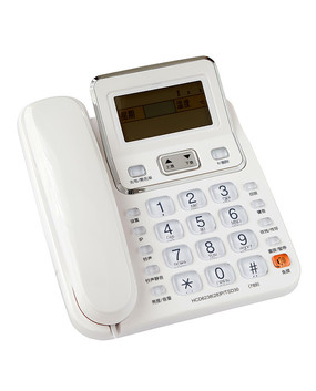 白色电话机抠图白底图片