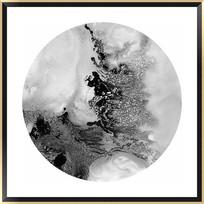 黑白抽象画