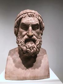 欧洲老人雕像