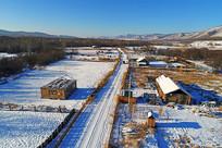 额尔古纳市边塞雪村