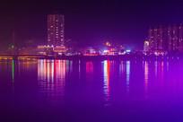 美丽的小镇夜景