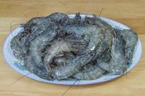 一盘带冰茬的生大虾