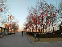 白天春节街景
