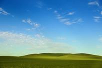 草原风光蓝天和白云