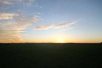 草原暮色日落美景