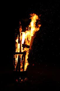 柴火火篝火火焰