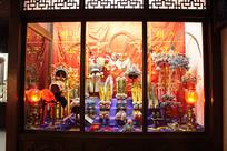 京剧道具陈列橱窗