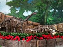 恐龙骨架装饰景观