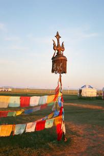 蒙古经幡杖