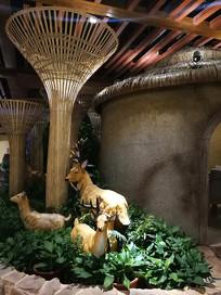 温泉区餐厅布置景观