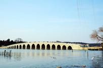 冬日的颐和园十七孔桥