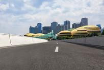 沥青道路和河南艺术中心