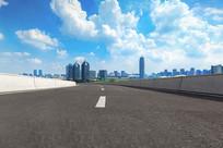 沥青道路和郑东新区
