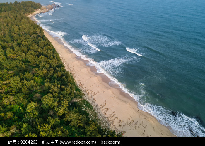 无人的海滩