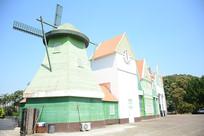 南沙湾啤酒屋风车建筑拍摄