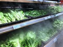 喷雾蔬菜货架