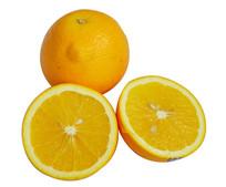 切成两半的橙子特写清晰果肉