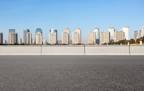 沥青道路前景和郑东商务内环
