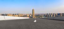 沥青道路前景和郑州千玺广场