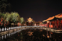 大明湖夜景