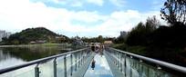 公园的玻璃栈道