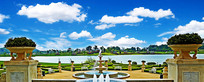 欧式园林湖畔景观