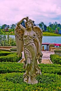 欧洲雕塑天使图片